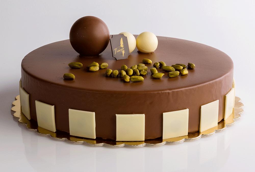 Bavarese al pistacchio e cioccolata al latte